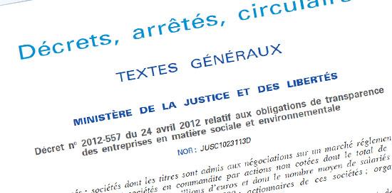 obligations de transparence des entreprises en matière sociale et environnementale